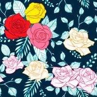 modèle sans couture fleur rose, vecteur modèle sans couture rose floral, fond de fleur