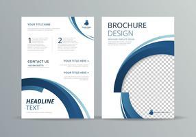 Modèle de brochure vecteur
