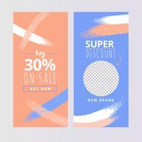 Modèles d'histoires colorées sur Instagram vecteur