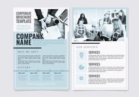 Modèle de brochure d'entreprise de vecteur