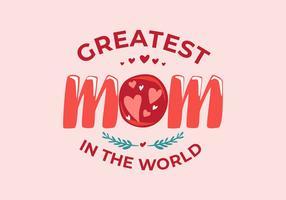 Illustration vectorielle de maman typographie vecteur
