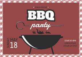 Affiche de fête de barbecue rétro vecteur