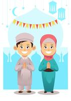 Enfants musulmans vecteur