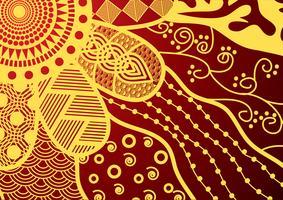 motif de doodle floral vector stock sans soudure