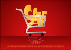 Panier d'achat, vente, illustration vectorielle vecteur