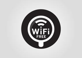 Icône Internet: tasse chaude avec signal sans fil wifi vecteur