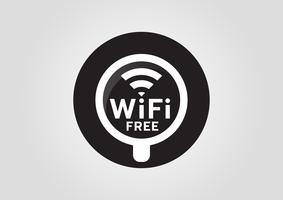 Icône Internet: tasse chaude avec signal sans fil wifi