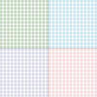 plaids simples en twill pastel