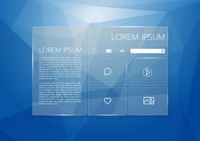 Tropical Palm Leaf Monstera avec une interface dorée FrameUser Conception graphique Web transparente, arrière-plan Low Poly. Élément de site Web pour votre conception Web vecteur