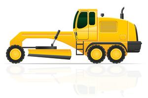 niveleuse pour travaux routiers vector illustration