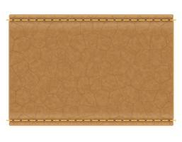 étiquette en cuir pour illustration vectorielle jeans vecteur