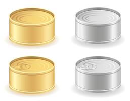 boîte en métal peut définir des icônes illustration vectorielle