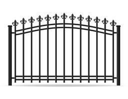 illustration vectorielle de fer forgé clôture