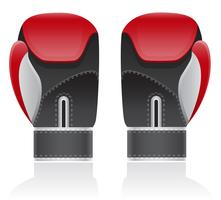 illustration vectorielle de gants de boxe