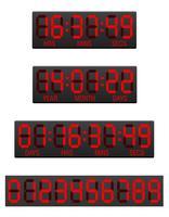 illustration vectorielle de tableau de bord numérique compte à rebours