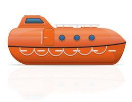 illustration vectorielle de canot de sauvetage nautique