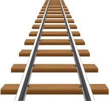 rails avec illustration vectorielle de traverses en bois
