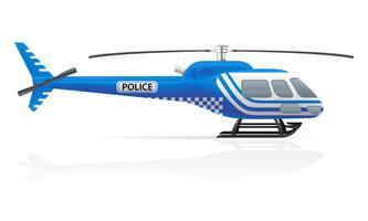 illustration vectorielle de police hélicoptère