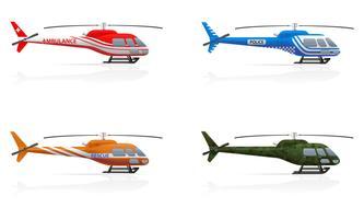 hélicoptères à usage spécial vector illustration