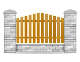 illustration vectorielle de clôture de brique vecteur