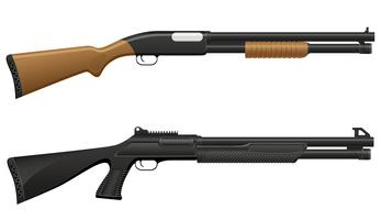 illustration vectorielle de fusil de chasse