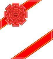 arc rouge avec illustration vectorielle de rubans