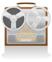 ancienne illustration vectorielle enregistreur vecteur