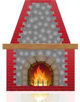 illustration vectorielle cheminée vecteur