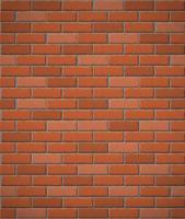 mur de fond sans couture de briques rouges vecteur