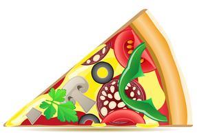 illustration vectorielle pizza