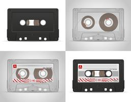 illustration vectorielle de cassette audio vecteur
