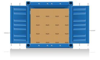 illustration vectorielle de concept cargaison livraison vecteur