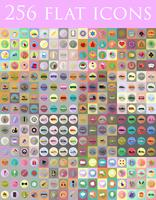 ensemble diversifié d'icônes plats vector illustration