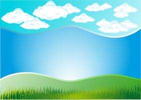 herbe nuageuse vecteur