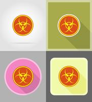 signer des icônes plats biohazard vector illustration