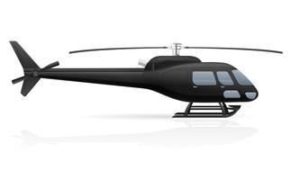 illustration vectorielle de passager civil hélicoptère