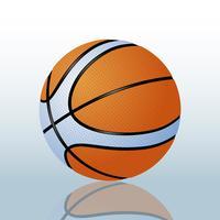Illustration réaliste de vecteur de basket-ball