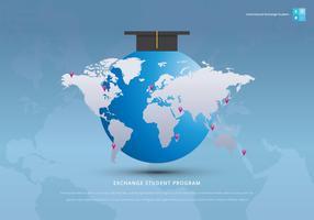 Échanges internationaux de projets éducatifs pour étudiants vecteur