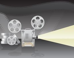 illustration vectorielle de cinéma projecteur vecteur