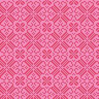motif rose rouge nordique brodé