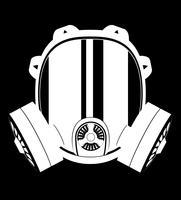 illustration vectorielle d'icône masque à gaz noir et blanc vecteur