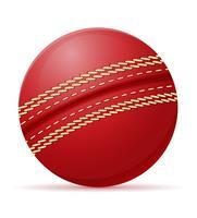 illustration vectorielle de balle de cricket vecteur