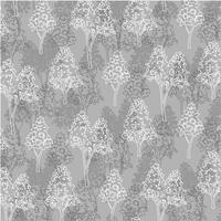 motif d'arbre contour blanc gris vecteur