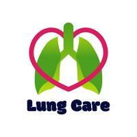 logo de poumons isolé sur fond blanc pour la clinique pulmonaire.