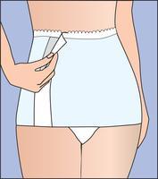 Bande de sous-vêtements mignon femmes enceintes pour le ventre de soutien. Bandage vecteur