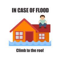 sensibilisation aux inondations pour le concept de procédure de sécurité contre les inondations vecteur