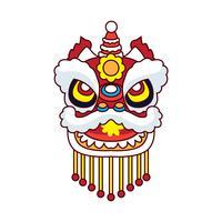 danse du lion pour le festival du nouvel an chinois vecteur