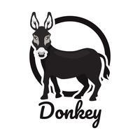logo d'âne isolé sur fond blanc vecteur