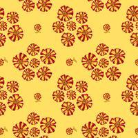 Modèle sans couture floral abstrait. Fond de fleurs d'été.