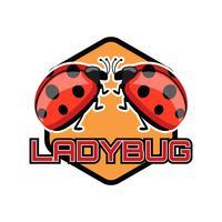 logo de Lady Bug isolé sur fond blanc vecteur